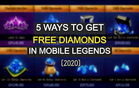 How to get Mobile Legends free Diamonds 2020. Free Diamonds in Mobile Legends.