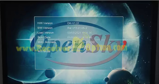 OPENSKY HD 265L 1507G 1G 8M NEW SOFTWARE 5 JANUARY 2021
