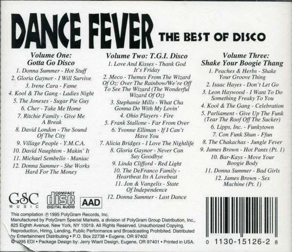 MUSIC REWIND: Dance Fever - The Best Of Disco 3CD Set