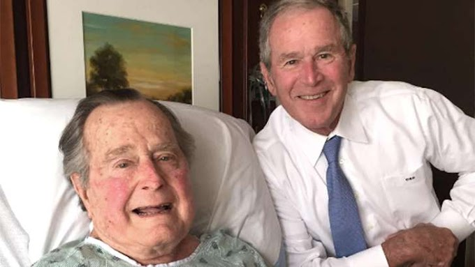 George H.W. Bush gets hospital visit from son: 'Big morale boost'