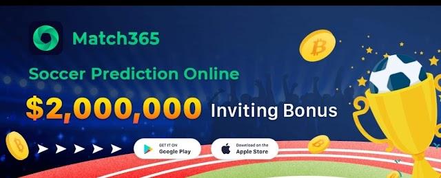 (Free Ƀitcoin) Match365 App – Read Articles + Refer & Earn 20 Ƀitcoin Daily