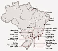 A imagem mostra no infográfico as principais capitais e cidades onde estão ocorrendo as manifestações contra a corrupção e aumento da tarifa das passagens de ônibus.