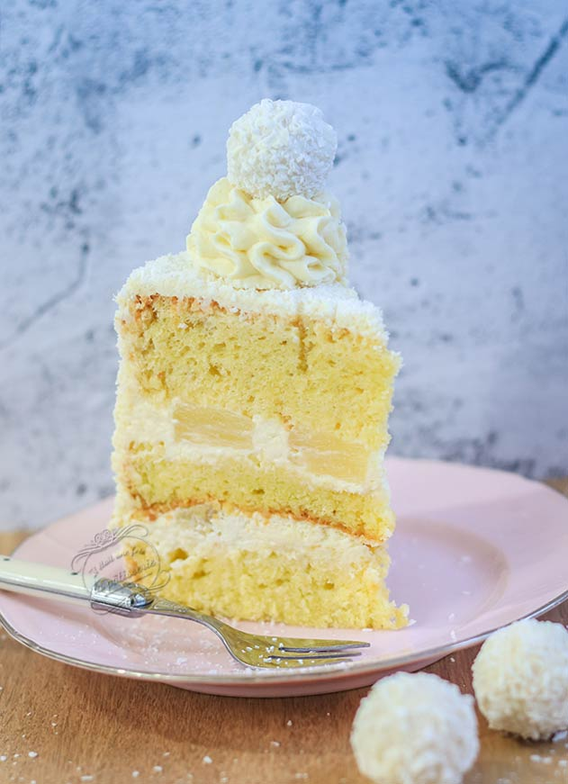 layer cake ananas noix de coco