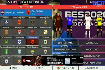Download Game Android FTS Mod PES 2020 Shopee Liga 1 Indonesia