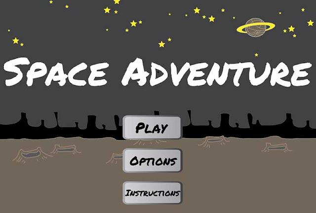 2D game menu screen