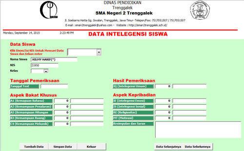 Aplikasi Pengumpul Data Bimbingan Konseling Sekolah Gratis