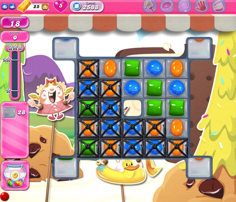 Candy Crush Saga level 2588