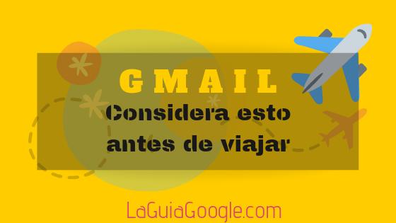Gmail en el exterior.