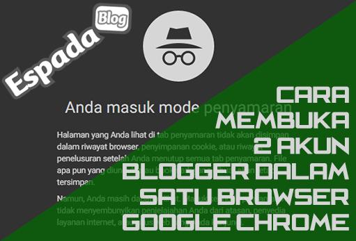 Cara Membuka 2 Akun Blogger Sekaligus Dalam Satu Browser 11