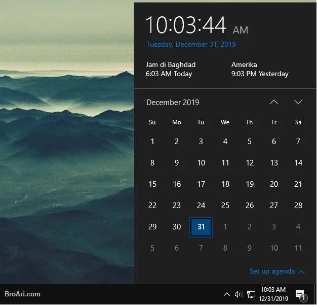 Menambahkan Jam Negara Lain di Taskbar Windows 10