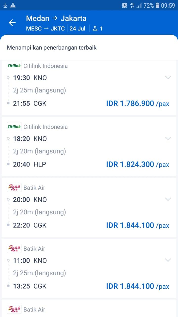 Citilink Tak Turunkan Harga Tiket Medan Jakarta Metro Online