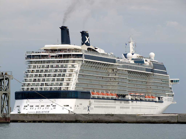 Celebrity Solstice cruise ship, IMO 9362530, port of Livorno
