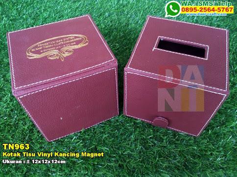 Kotak Tisu Vinyl Kancing Magnet
