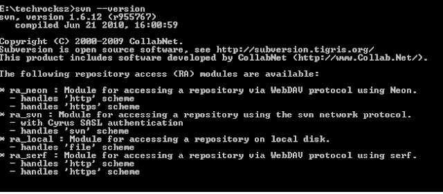 subversion svn command example