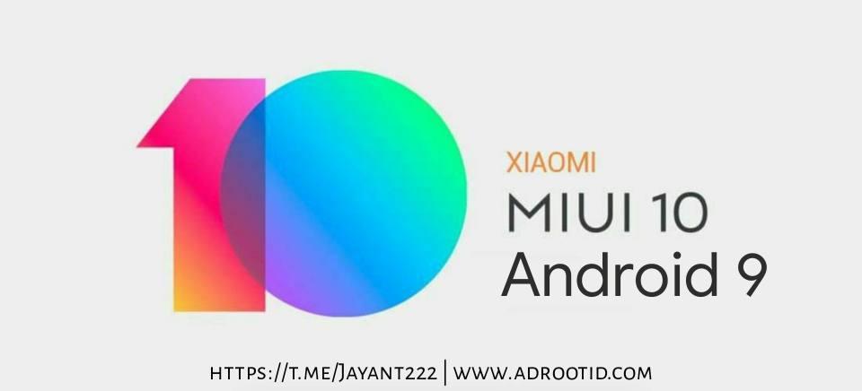 MIUi 10 Android Pie Redmi 3S