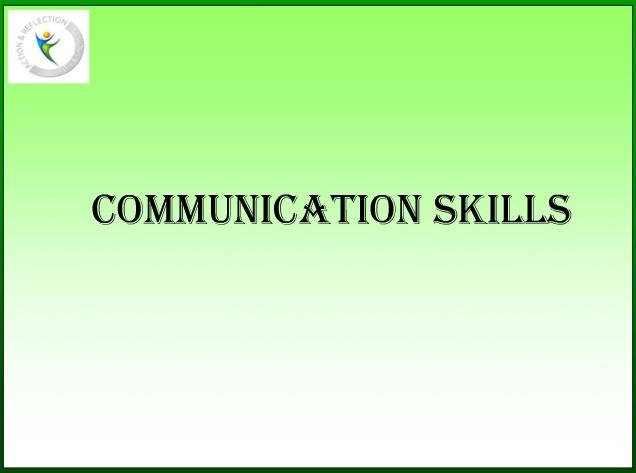 Communication skills ppt presentation - Author Stream Download