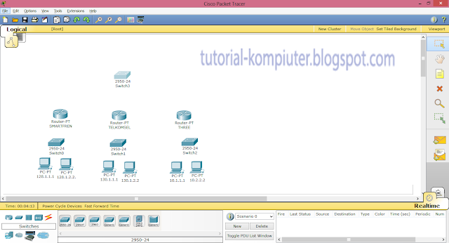 Simulasi Static Routing menggunakan Packet Tracer by Tutorial Kompiuter