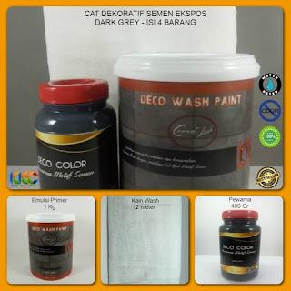 Cat Dekoratif Wash Paint Dark Grey  Isi 3 Item