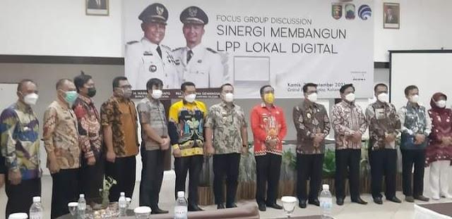 Kadis Kominfo  Lampung Utara Dampingi Sekretaris Drs. Susilo Dwiko, M.M.Hadiri Undangan  Diskuksi Kelompok Terarah