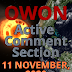 Active Comment Section    11 November - current