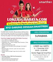 Walk In Interview at PT. Smartfren Telecom Tbk Surabaya Terbaru Desember 2019