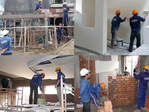 Đội thầu thi công xây dựng nhà