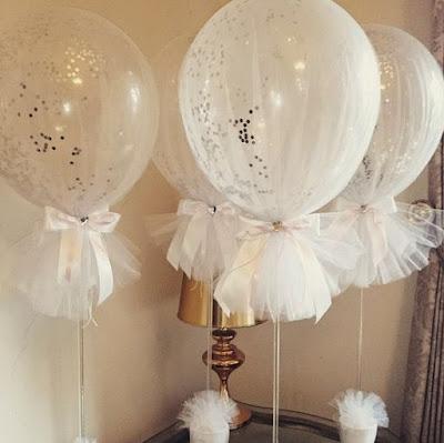 dekorasi balon ultah dibungkus kain terbaru
