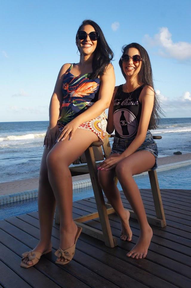 Influenciadoras Dionísia e Quézia Paiva curtem o final de semana em pousada famosa na Bahia
