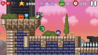 Jogue online grátis Bloo Kid 2 parecido com Mario