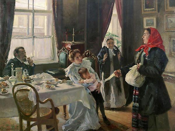 Маковский Владимир Егорович - Две матери. Мать приемная и родная. 1906