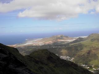 Montaña Amagro desde la ferrata la Guagua