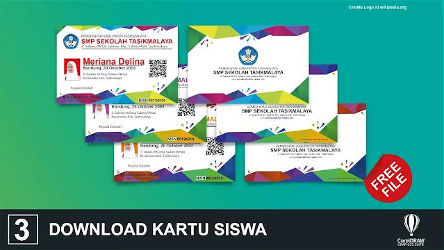 Gratis File Kartu Siswa : Download Kartu Pelajar Coreldraw Dan Illustrator