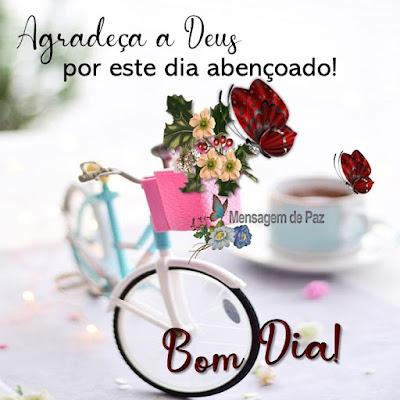 Agradeça a Deus  por este dia abençoado!  Bom Dia!