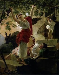 Брюллов Карл Павлович Девушка, собирающая виноград в окрестностях Неаполя