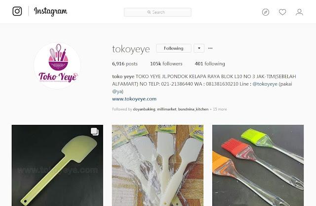 Toko Yeye - Toko Bahan Kue Online Instagram