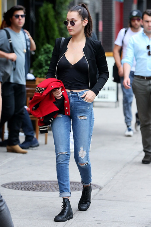 How Bella Hadid Styles Denim