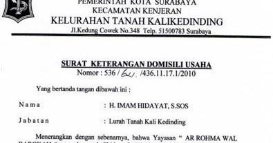 Surat Keterangan Domisili Skd Karang Taruana Mahameru Rt15
