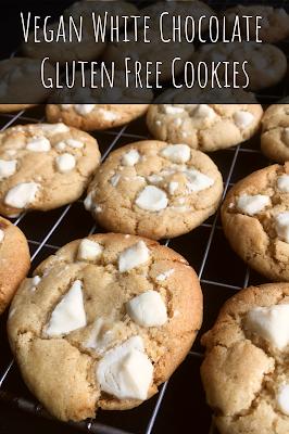 Vegan White Chocolate Gluten Free Cookies