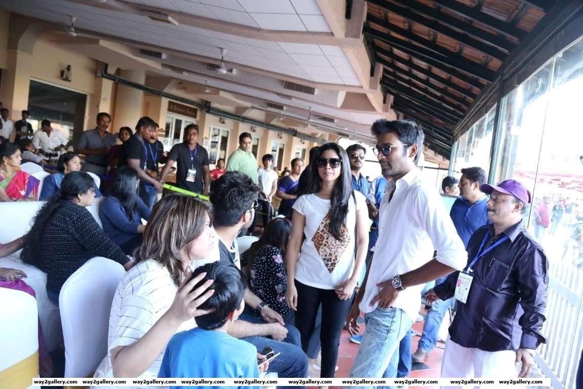 Dhanush took time out to attend the Natchathira cricket tournament