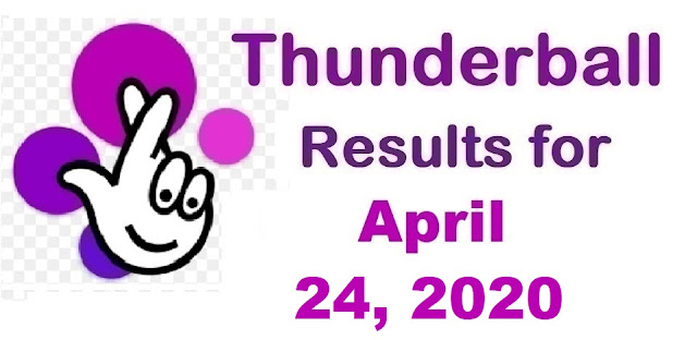 Thunderball Results for Friday, April 24, 2020