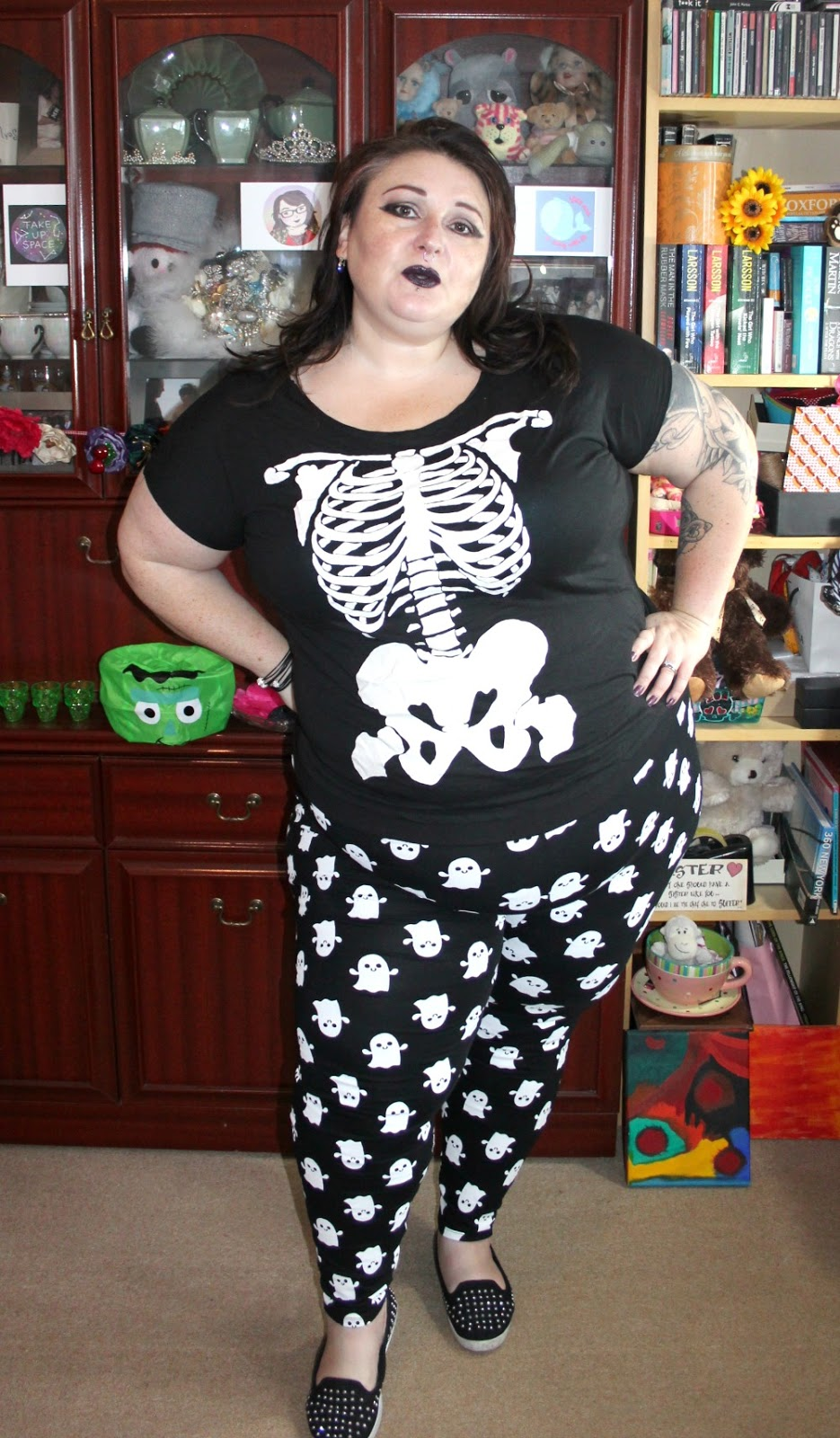 Plus size skeleton t shirt