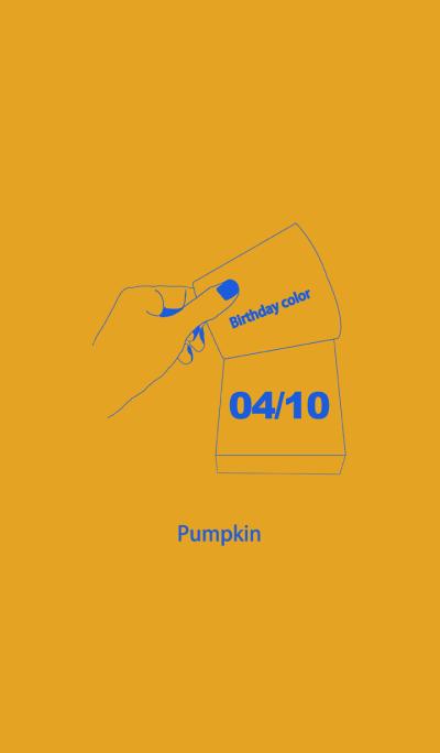 Birthday color April 10 simple: