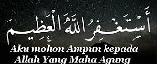 misalnya ketika di depan mata kita maka jika kita beragama Islam di Sunnahkan mengucapkan Arti Astagfirullah, Arti Bacaan Istigfar