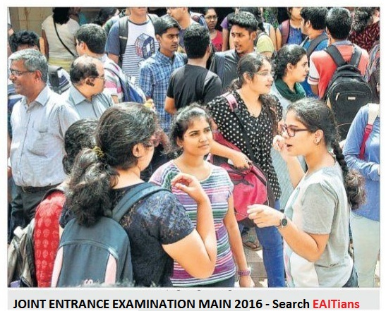 JOINT ENTRANCE EXAMINATION MAIN 2016
