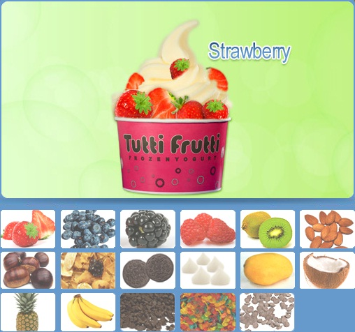 Cappuccino Tutti Frutti Frozen Yogurt