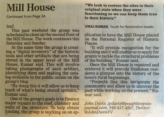 The Poughkeepsie Journal Covers Youth for Restoration