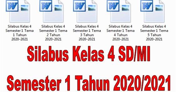 Silabus Kelas 4 SD/MI Semester 1 Tahun 2020/2021 - Guru ...