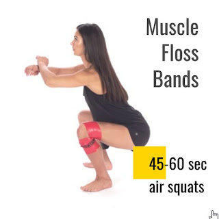 compression floss bands knee joint full range of motion
