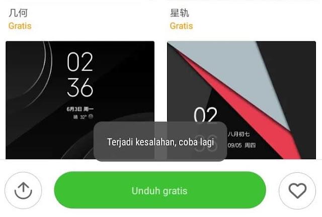 Cara Mengatasi Gagal Mengunduh Tema Xiaomi