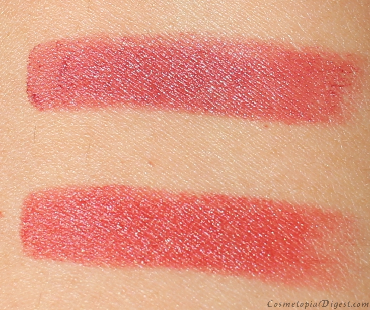 Here is the review and swatches of Charlotte Tilbury Matte Revolution Lipsticks in Bond Girl and Walk of Shame.